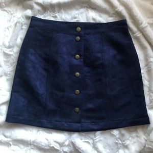 Old Navy Faux Suede High Waisted Skirt Size 2